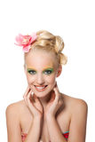 Beautyful Woman With Flower Stock Images