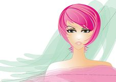 Beautyful women. 's face graphic illustration Royalty Free Stock Photo
