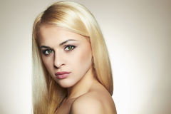 Beautyful Young blond woman Stock Images