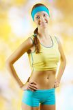 A beautyful young sporty female Royalty Free Stock Photo