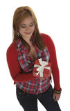 Beautyful young woman with a present Stock Photo