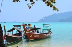 Beautyfulbaai bij het Nationale Park van Surin van Thailand royalty-vrije stock fotografie