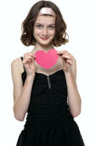 Beautyfull teenage girl in love Royalty Free Stock Photo