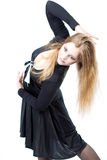 Beautyfully shaped caucasian blonde girl Stock Photography