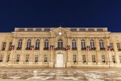 Beauvais City Hall at night. Beauvais, Hauts-de-France, France royalty free stock photography