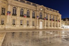 Beauvais City Hall at night stock photos