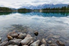 Beauvert Lake at Jasper royalty free stock image