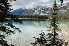 Beauvert Lake at Jasper Royalty Free Stock Image