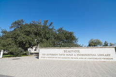 Beauvoir. Entrance to Beauvoir, The Jefferson Davis Home and Presidential Library. Located in Biloxi, Mississippi Stock Photo