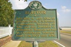 Beauvoir, hogar pasado y museo para Jefferson Davis, Biloxi Mississippi Imagen de archivo libre de regalías