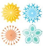 Beaux éléments abstraits colorés de fleur Image libre de droits