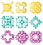 Beaux éléments abstraits colorés de fleur Images libres de droits