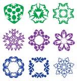 Beaux éléments abstraits colorés de fleur Photo libre de droits