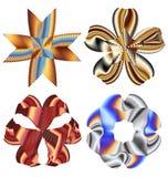 Beaux éléments abstraits colorés de fleur Photo stock