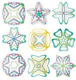 Beaux éléments abstraits colorés de fleur Photographie stock libre de droits