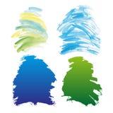 Beaux éléments de conception d'aquarelle Illustration de vecteur Image libre de droits