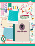Beaux éléments de Scrapbooking illustration de vecteur