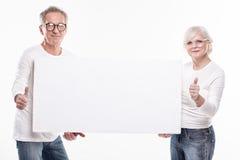 Beaux ajouter supérieurs au conseil blanc vide Photos libres de droits