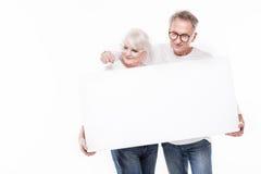 Beaux ajouter supérieurs au conseil blanc vide Photographie stock libre de droits