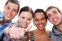 Beaux amis heureux Images libres de droits