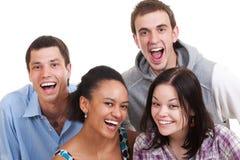 Beaux amis heureux Photos libres de droits