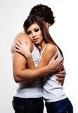Beaux amoureux de embrassement Photo libre de droits