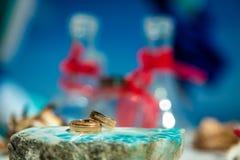 Beaux anneaux de mariage Photo stock