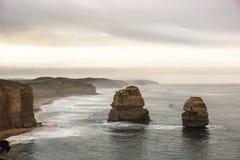 Beaux 12 apôtres célèbres dans l'Australie Images libres de droits