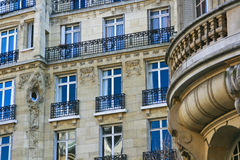 Beaux appartements à Paris France Photographie stock libre de droits