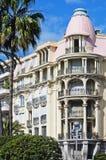 Beaux appartements classiques de type à Nice, France Image stock