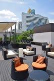 Beaux arrangements de dessus de toit pour la relaxation images libres de droits
