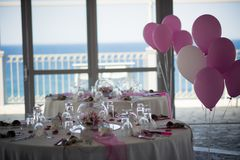 Beaux arrangements de table pour votre mariage Photographie stock