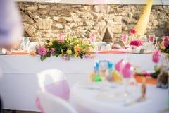 Beaux arrangements de table pour votre mariage Photos libres de droits