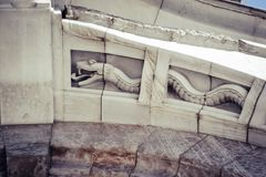 Beaux-arts architecturaux de détail en noir et blanc image stock