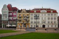 Beaux bâtiments colorés Timisoara, Roumanie image stock