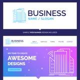 Beaux bâtiments de marque de concept d'affaires, ville, capteur, s illustration stock