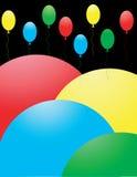 Beaux ballons de couleur. illustration de vecteur