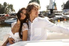 Beaux beaux couples de mode Photos libres de droits