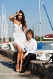 Beaux beaux couples de mode Photographie stock libre de droits