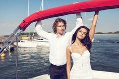 Beaux beaux couples de mode Images libres de droits