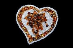 Beaux bijoux de concepteur faits main image libre de droits