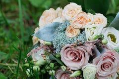 Beaux bouquet et anneaux de mariage Image libre de droits
