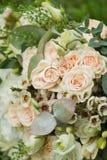 Beaux bouquet et anneaux de mariage Photos libres de droits