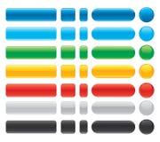 Beaux boutons brillants d'Internet de vecteur. Photo libre de droits