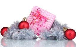 Beaux cadeau et décoration lumineux de Noël Photo libre de droits