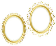 Beaux cadres décoratifs d'or - ensemble Photographie stock libre de droits
