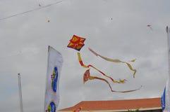 Beaux cerfs-volants sur le ciel Ciel sri-lankais photo libre de droits