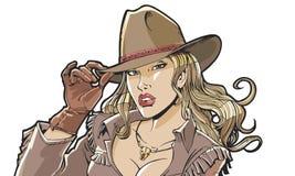 Beaux chapeau et habillement de cowboy de fille Image stock