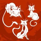 Beaux chats. illustration de vecteur