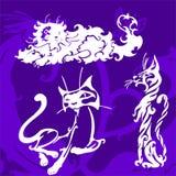 Beaux chats. illustration libre de droits